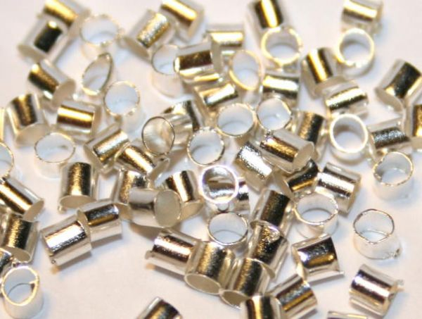 10000 X CRIMPS - SILVER PLATED 1.0 MM